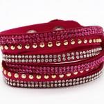 Bracelet multirang fushia